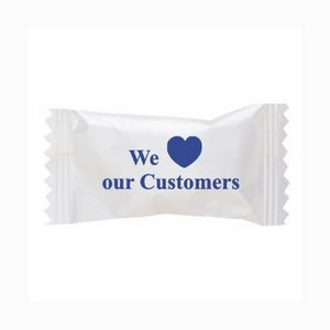Chocolate Buttermints in a We Love Our Customers Wrapper